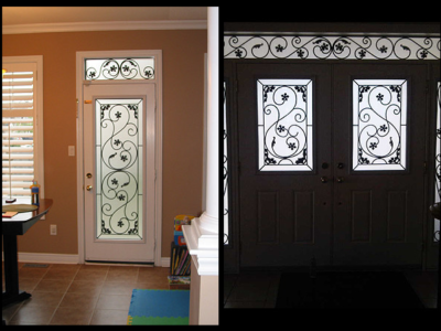 Wrought iron door inserts u2013 a1 glass inserts