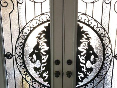 Beau Wrought Iron Door Inserts